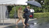 Melania Trump wears heels again on way to Texas