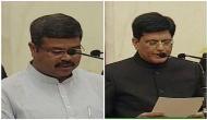 Cabinet reshuffle: Dharmendra Pradhan, Piyush Goyal take oath