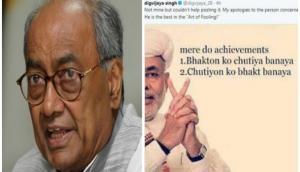 Digvijaya Singh posts abusive meme against PM Modi