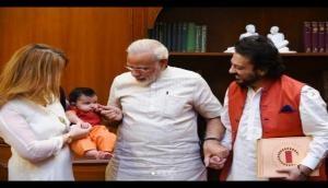 Adnan Sami visits PM Modi with family