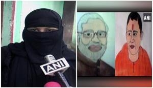 Muslim woman thrown out by in-laws for making 'Modi-Yogi' painting