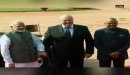 Belarus President accorded ceremonial welcome at Rashtrapati Bhawan