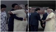 PM Modi receives Japanese counterpart Shinzo Abe at Ahmedabad