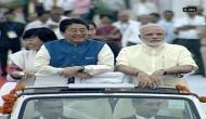 Japanese PM Shinzo Abe, PM Modi take part in road show from Ahmedabad Airport to Sabarmati Aashram