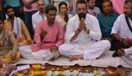 संजय दत्त ने पिता सुनील दत्त का काशी में किया पिंडदान
