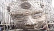 Assam : World's tallest bamboo Durga Maa idol being made