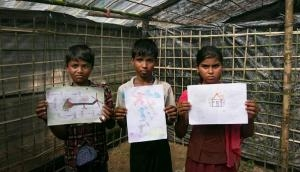 In photos: Rohingya children use art to depict the horrors of Rakhine