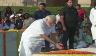 Gandhi Jayanti: PM Narendra Modi pays floral tribute to 'Father of Nation'