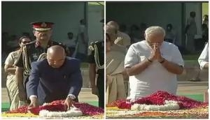President Rajnath Kovind, PM Narendra Modi pay tribute to Lal Bahadur Shastri at Vijay Ghat