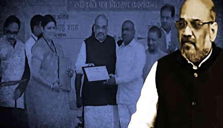 Amit Shah, Smriti Irani & Adityanath take on Rahul in Amethi, flays the Gandhis for neglecting 'Vikas'