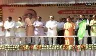 Uttar Pradesh Cheif Minister Adityanath flags off 50 'Sankalp Seva' buses in Lucknow