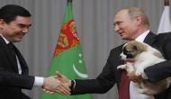 Vladimir Putin gets a new puppy as birthday gift from Turkmenistan's President
