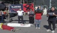 Tibetan activists staged protest against Chinese President Xi Jinping
