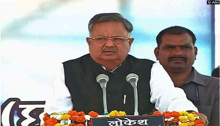 Chhattisgarh Chief Minister Raman Singh meets kin of slain jawans