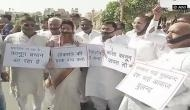 Congress protests against Rajasthan Ordinance outside state assembly