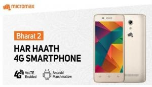 Bharat 2 Ultra 4G: Micromax & Vodafone partner for Rs 999 smartphone
