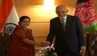 External Affairs Minister Sushma Swaraj calls on Afghan President Ashraf Ghani