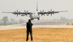 In Photos: 'Super Hercules' lands on Yamuna Expressway for the first time