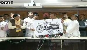 Gujarat Assembly Election 2017: Shankersinh Vaghela unveils party symbol for Jan Vikalp Morcha
