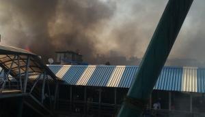 In Photos: Major fire breaks out near Bandra railway station