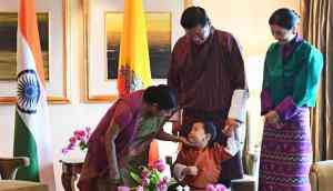 Prince of Bhutan steals the show as royal family visits India
