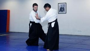 No kiddin'. That's Rahul Gandhi doing Aikido