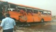 One dead, many injured in school bus accident on Yamuna Expressway