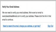 How to use email verification system