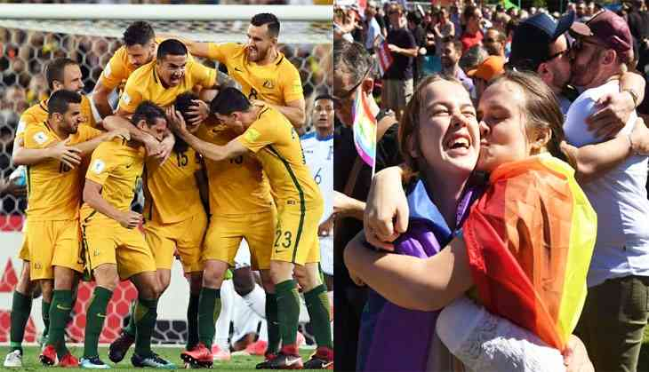 Same-sex marriage and a World cup spot in the same day. Cheers Australia!