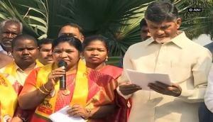 YSR Congress Party Paderu MLA Giddi Eswari joins TDP