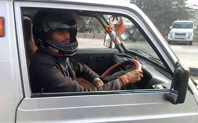 Driving a car in Bharatpur? Wear a helmet!
