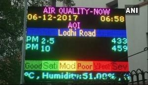 Delhi: Air quality in Wazipur, Jahangirpuri in 'poor' category