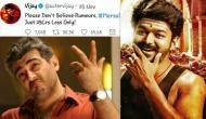 Thala Ajith fans tweet fake pic of Thalapathy Vijay's account claiming Mersal lost Rs. 25 crore