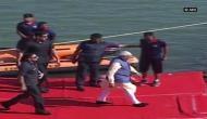 Prime Minister Narendra Modi reaches Dharoi Dam in sea-plane