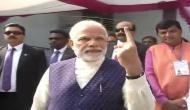 Gujarat polls: Prime Minister Narendra Modi casts his vote in Sabarmati