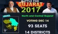गुजरात चुनाव: दूसरे चरण में 93 सीटों पर मतदान शुरू, कई दिग्गजों ने डाला वोट