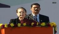 Telangana Assembly Election 2018: Sonia Gandhi attacks CM Rao in maiden election rally; says, 'free Telangana from KCR family'