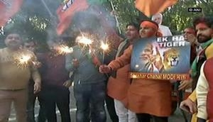 Assembly Elections 2017: BJP celebrates as trends indicate party's victory in Gujarat, Himachal