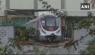 उद्घाटन से पहले मैजेंटा लाइन पर हादसा, दीवार तोड़ बाहर निकली मेट्रो