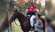 नन्हें नवाब ने बर्थडे से पहले की घुड़सवारी, देखें फोटो