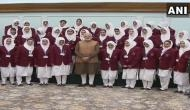 Prime Minister Narendra Modi meets students from Jammu and Kashmir