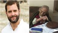 107 साल की 'नानी फैन' को राहुल ने बर्थडे पर दिया स्पेशल गिफ्ट
