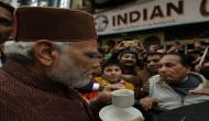 When Prime Minister Narendra Modi suddenly stopped for cup of coffee