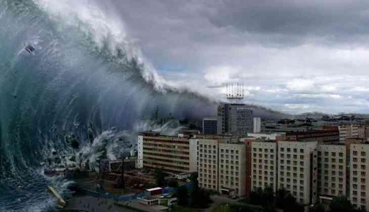 Huge TSUNAMI wave in Indian Ocean, Chennai - YouTube