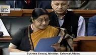 Sushma Swaraj tears apart Pak's 'shoe' theory post Jadhav-family meet