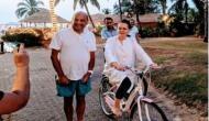 बेटे को सत्ता सौंप गोवा में साइकिल की सवारी कर रहीं हैं सोनिया गांधी