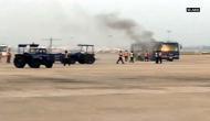 IndiGo passenger bus catches fire at Chennai airport