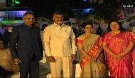 Andhra CM rings in New Year with bureaucrats