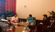 Sushma Swaraj meets ASEAN Secretary General in Jakarta
