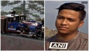 ITI boy makes miniature models of Darjeeling Toy Train